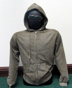 The Unabomber's Hoodie and Aviator Glasses.