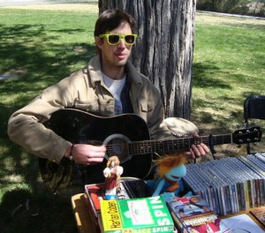 David Hadel, the man behind All Reno Radio, at Earth Day 2011. Courtesy David Hadel